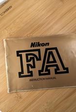 NIKON Nikon FA Original Manual Used EX