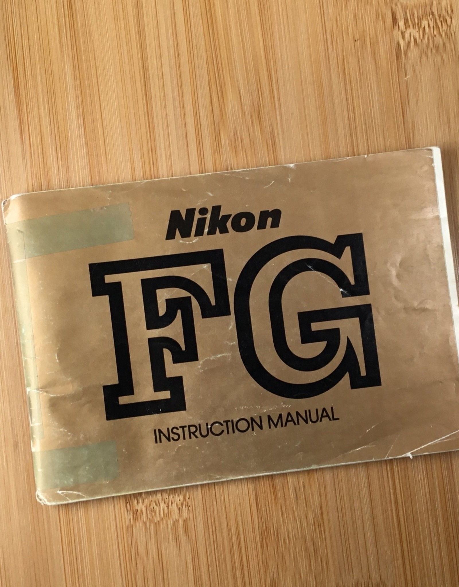 NIKON Nikon FG Original Manual Used EX