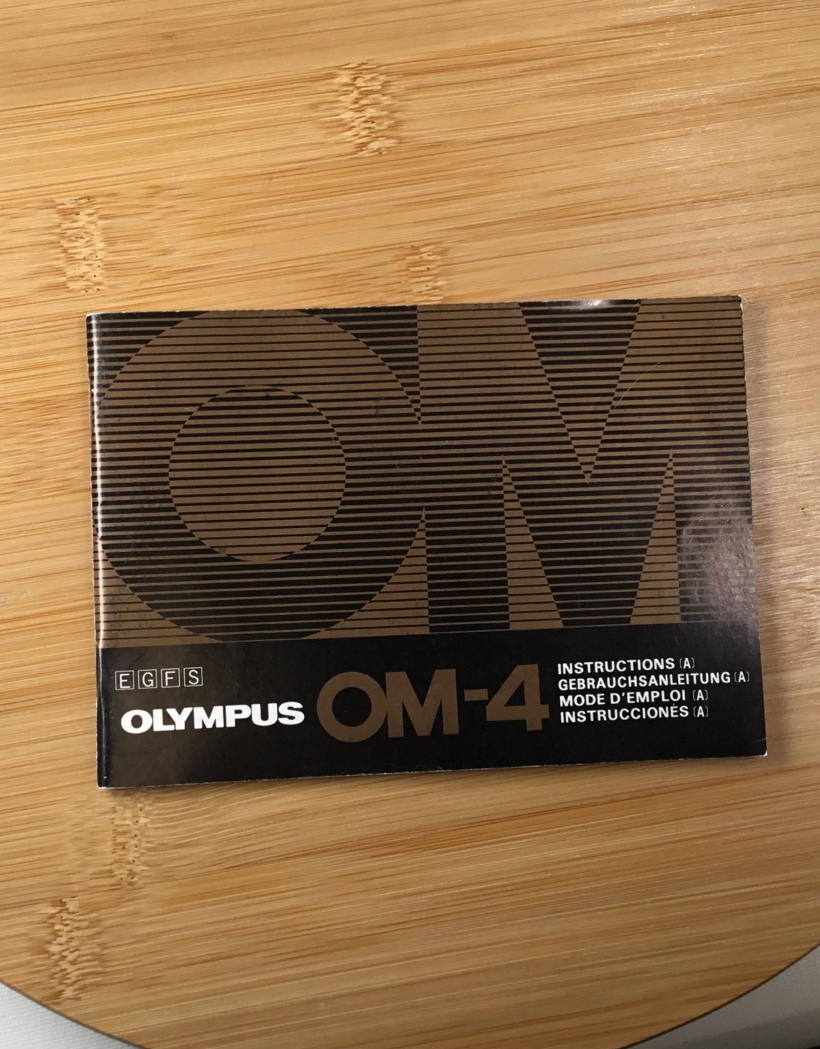 OLYMPUS Olympus OM-4 Original Manual Used EX