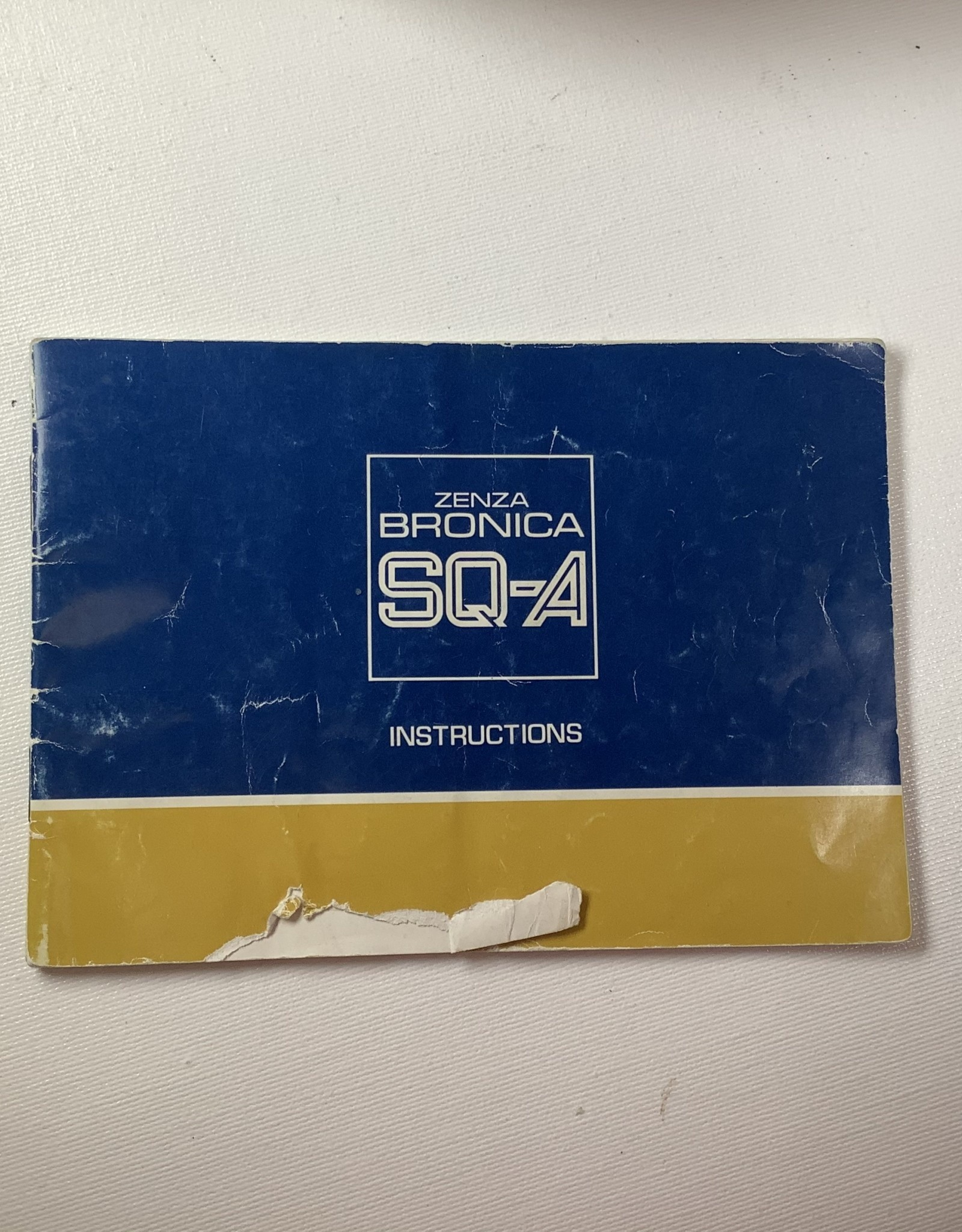 Bronica Bronica SQ-A Original Manual Used EX