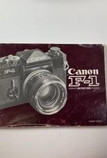 Pentax Canon F-1 Original Manual Used EX