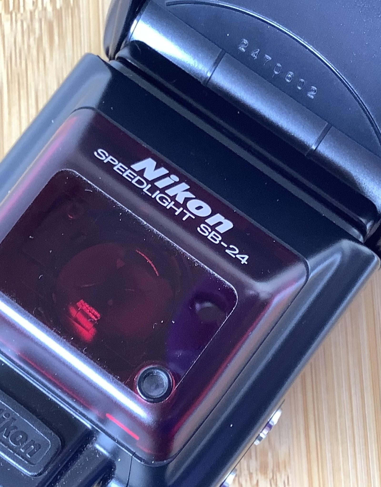 NIKON Nikon SB-24 Speedlight Flash with case Used EX