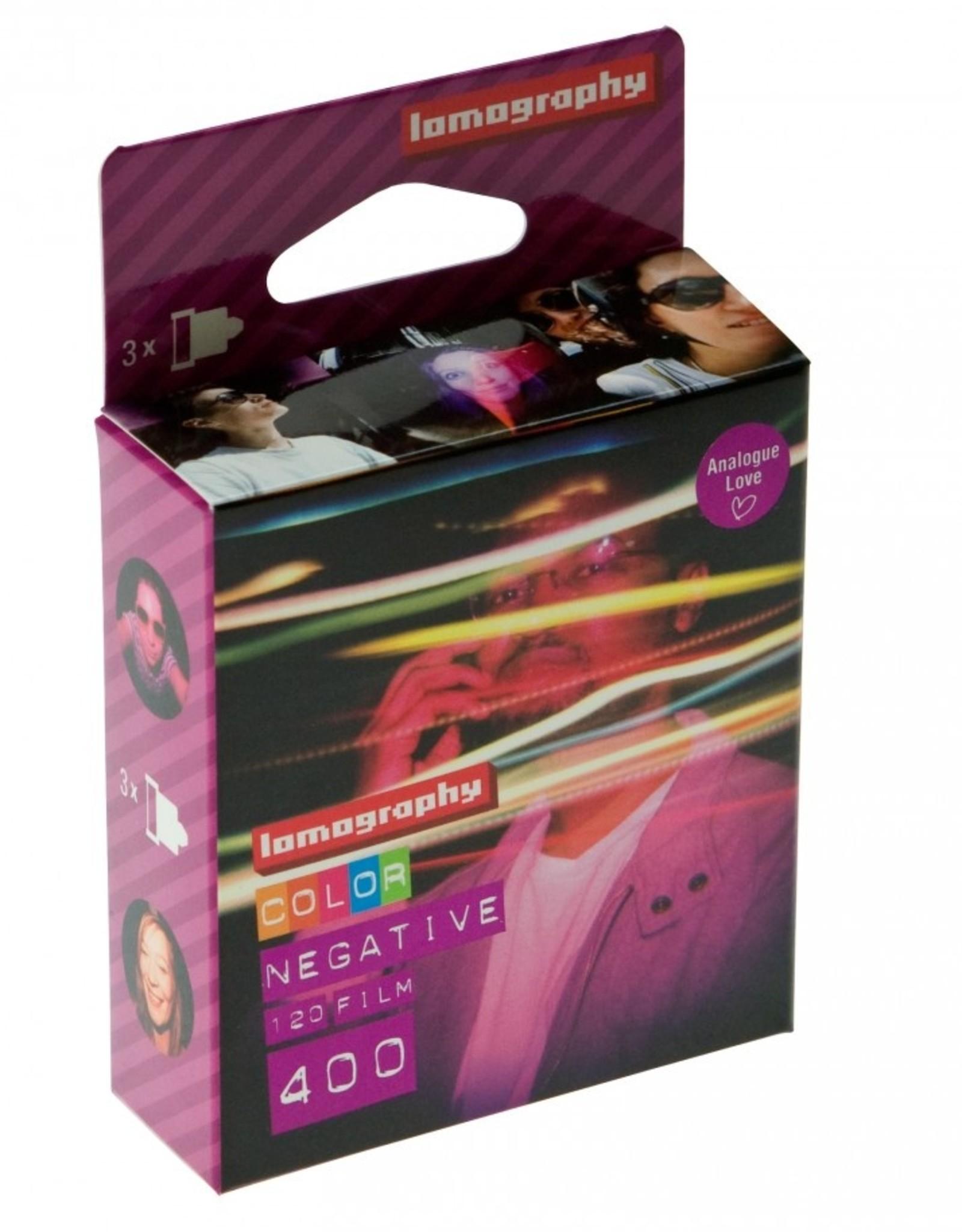 Lomography 120 Colour Negative Film ISO 400 (3 pack)