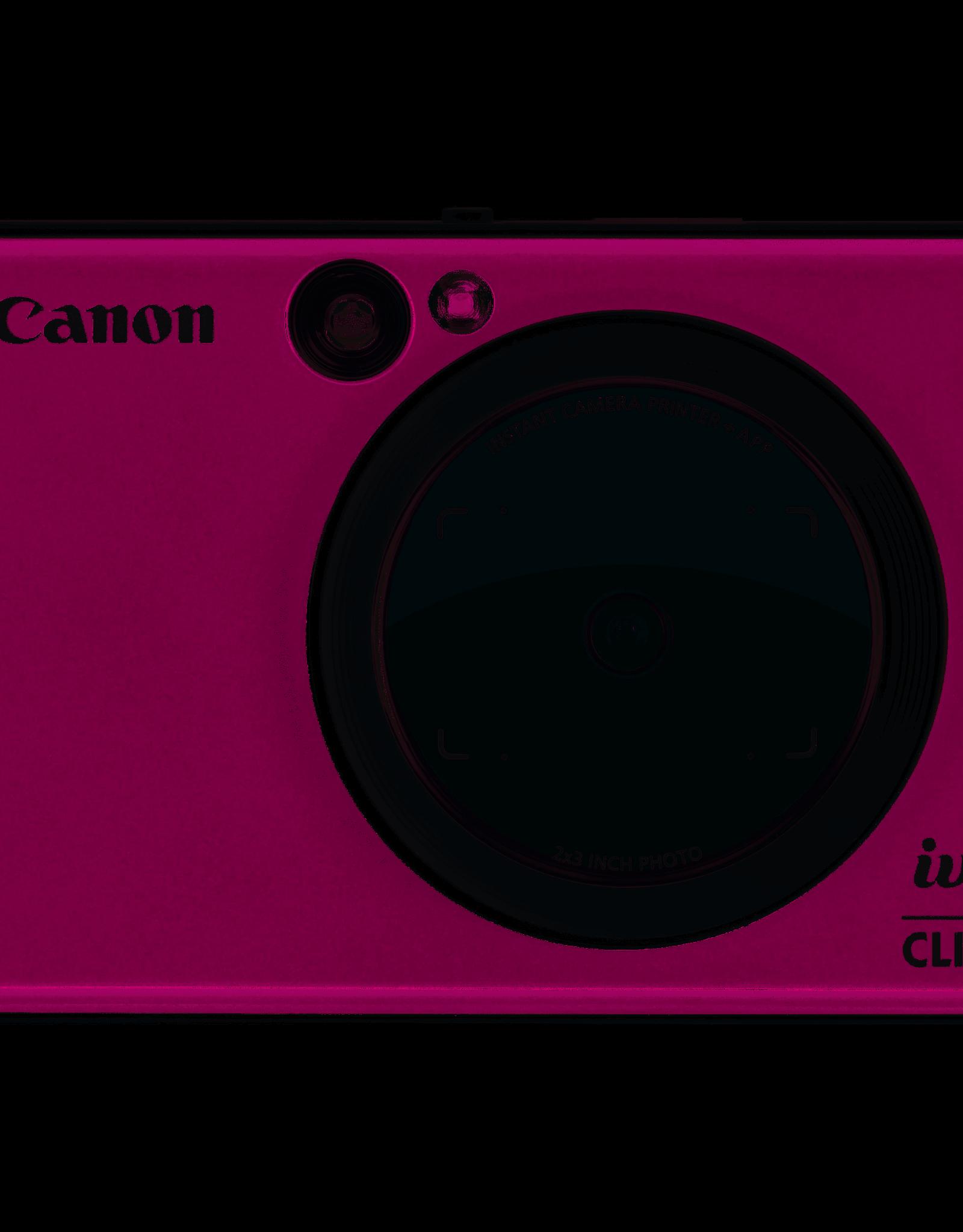 CANON Canon IVY CLIQ+ Instant Camera Printer Ruby Red) New