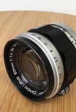 CANON Canon L39 50mm f1.4 Screw Mount Lens Used BGN