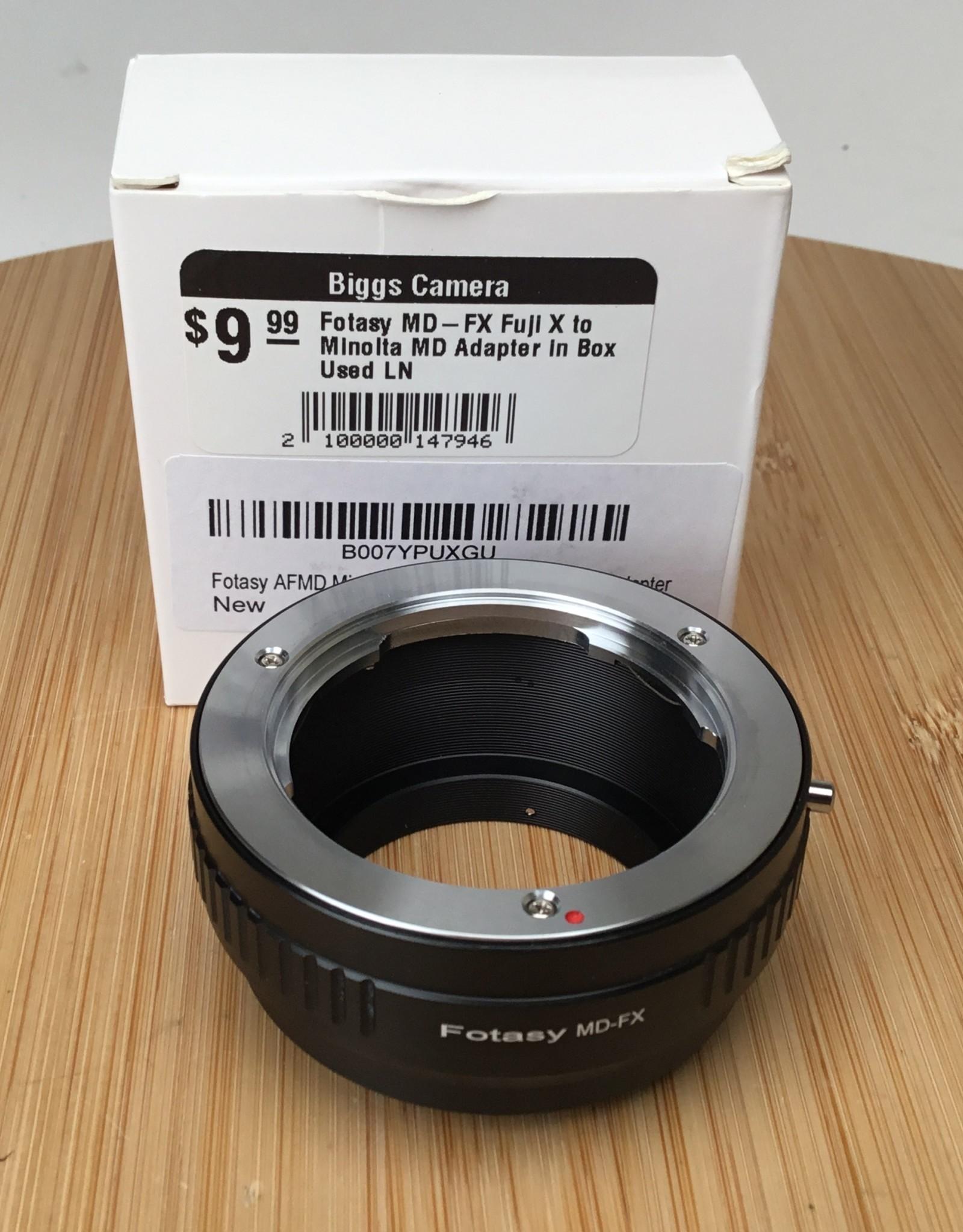 Fotasy MD-FX Fuji X to Minolta MD Adapter in Box Used LN