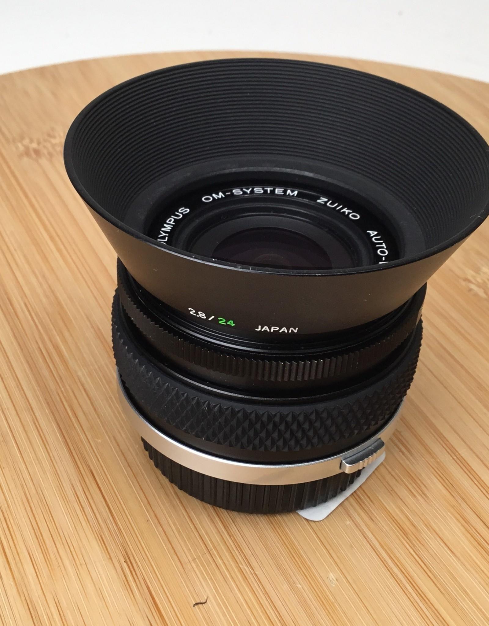 OLYMPUS Olympus OM 24mm f2.8 Lens with Hood Used EX+