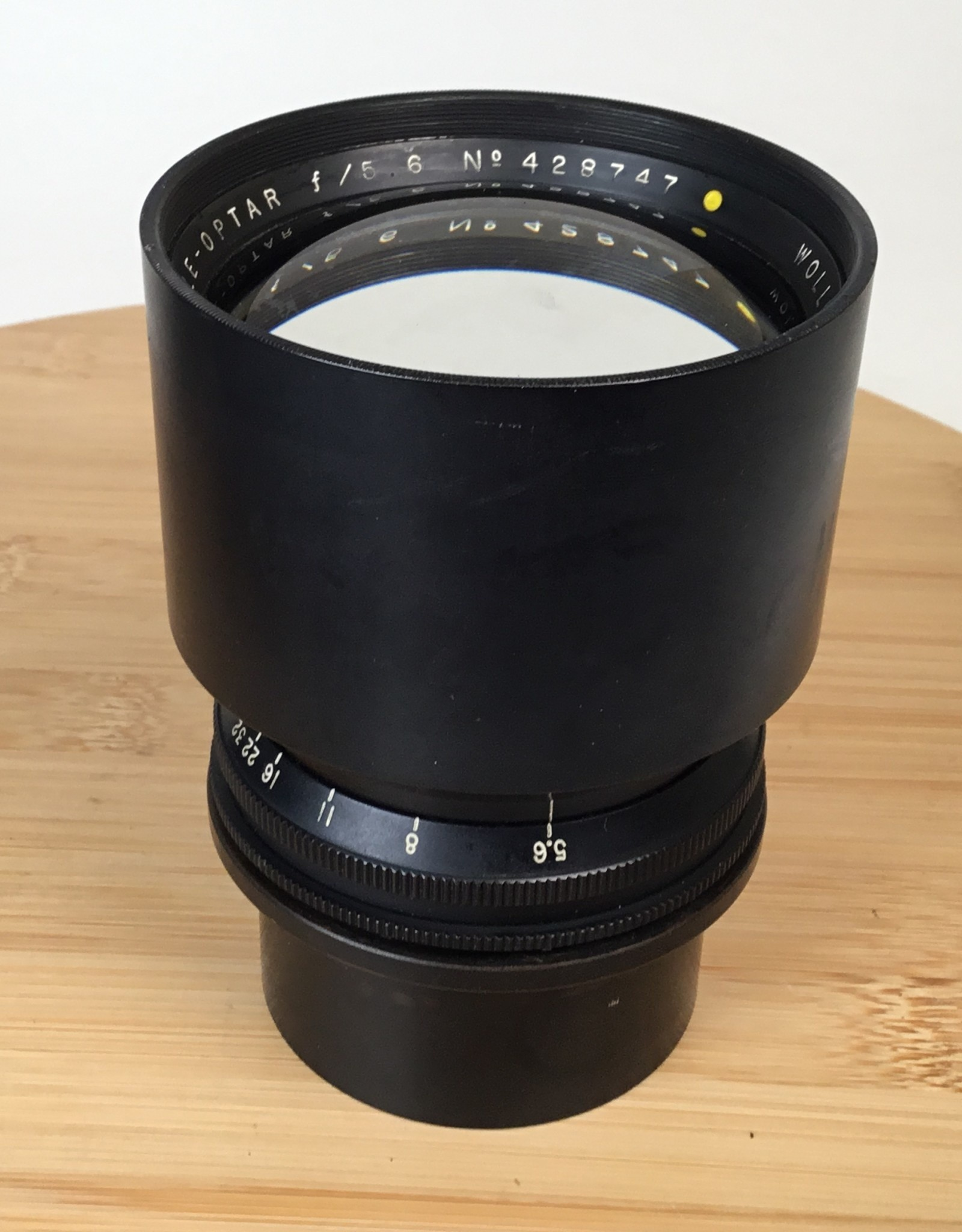 Graflex Tele-Optar 15 Inch f5.6 Barrel Lens Used BGN