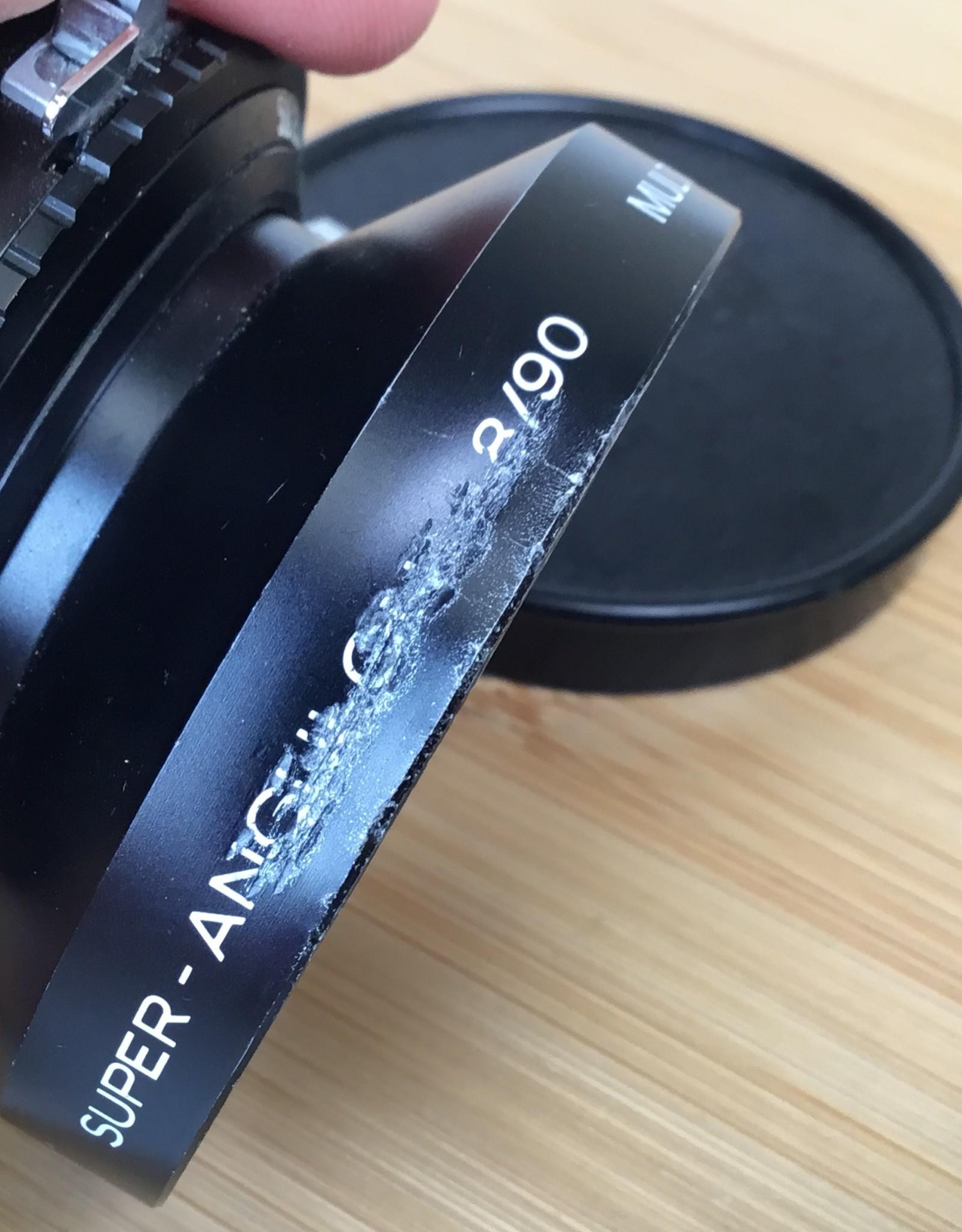 Schneider Super-Angulon 90mm f8 in Copal 0 Used BGN