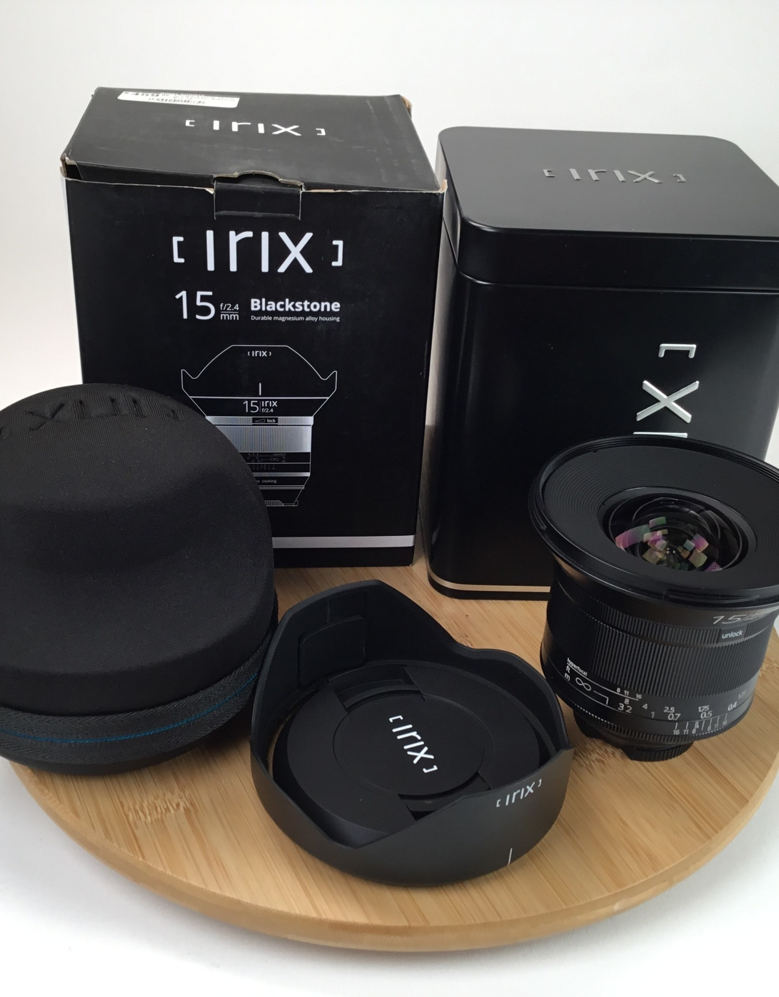 Irix Blackstone 15mm f2.4 Lens for Nikon in Box Used  LN