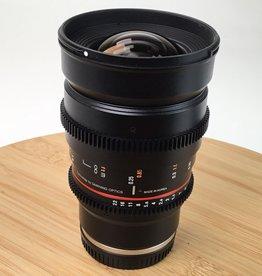 ROKINON Rokinon 24mm t1.5 ED AS UMC II Lens for Sony E Used EX