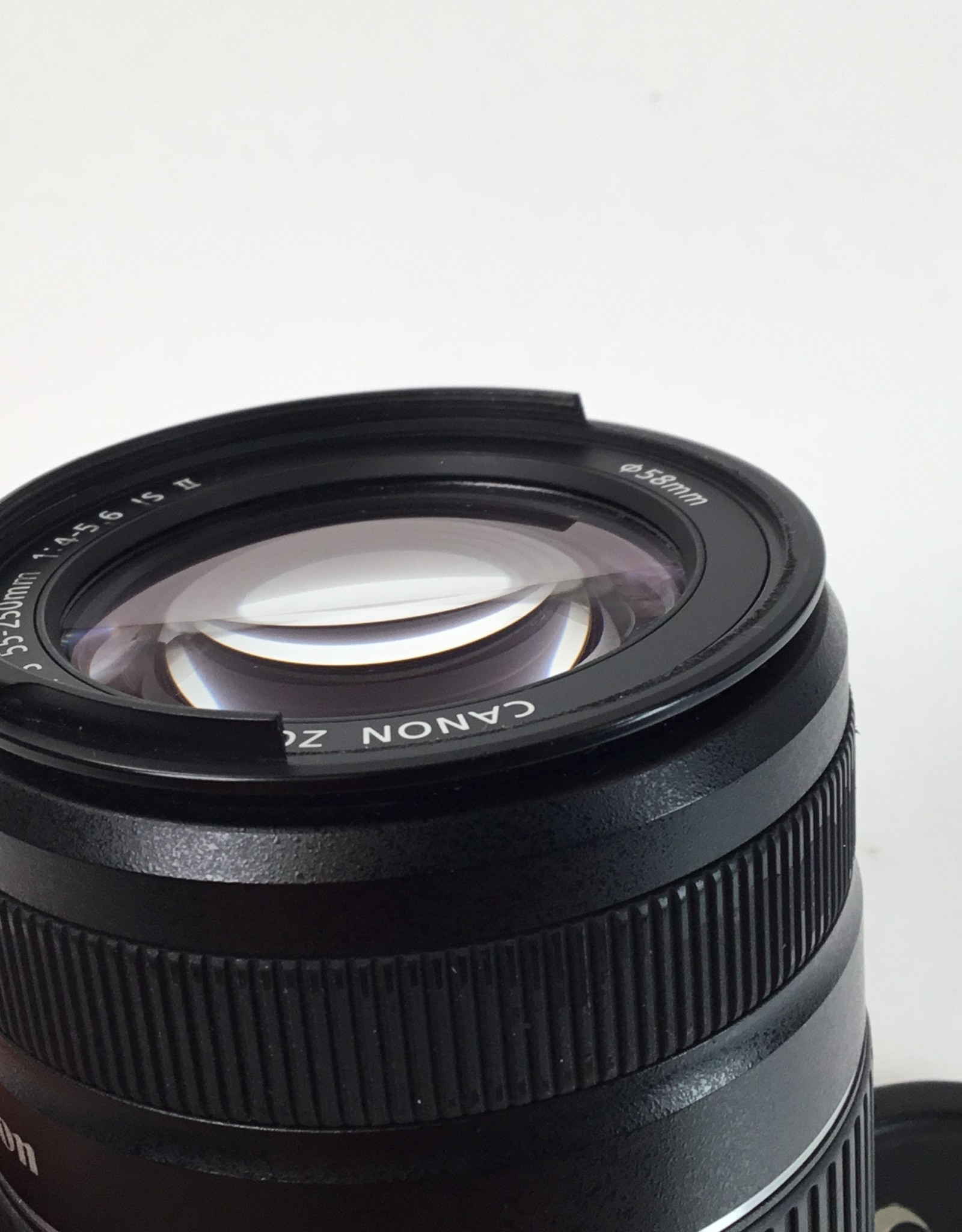 CANON Canon EF-S 55-250mm IS II Broken Filter Ring Used BGN