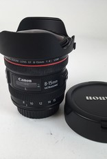 CANON Canon 8-15mm f4 L Fisheye Lens Used EX+