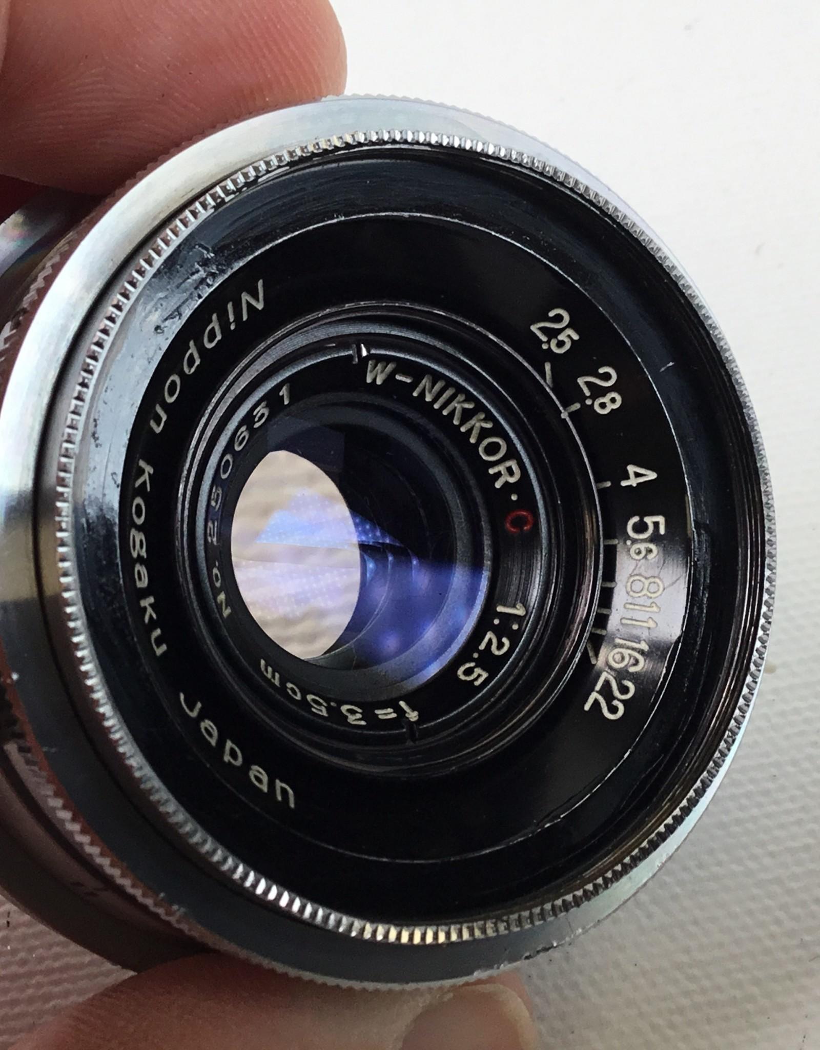 NIKON Nikon 3.5 cm 2.5 W-Nikkor-O Nippon Kogaku Lens EX