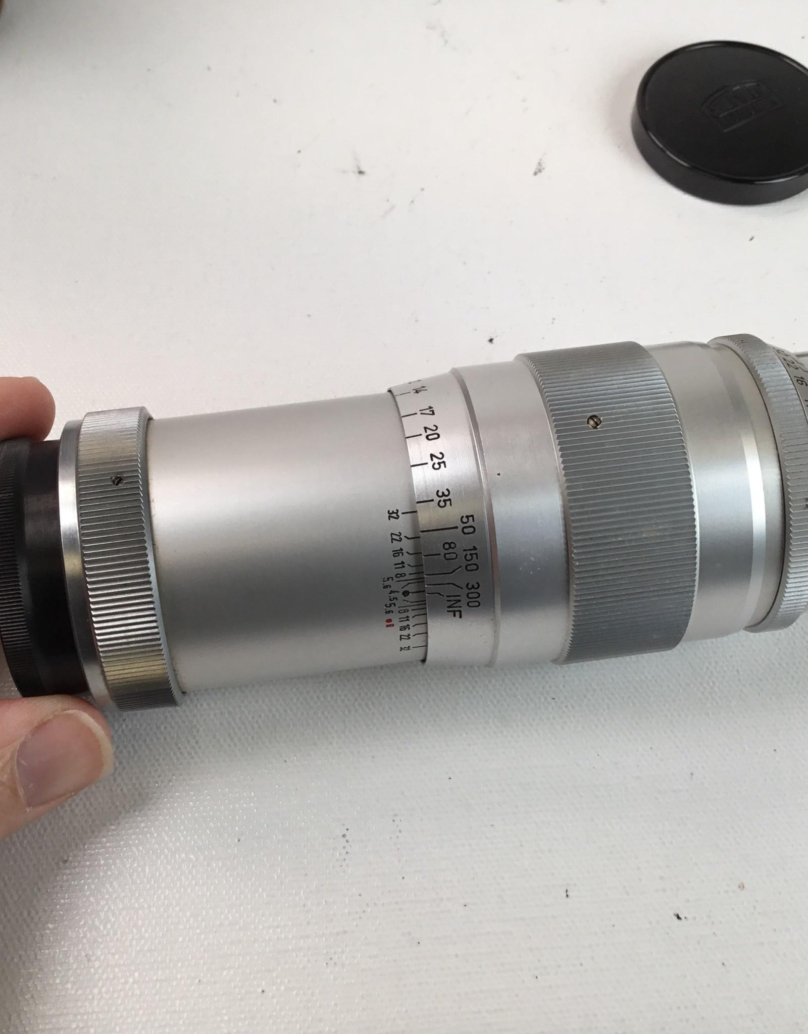 Leica Steinheil 135mm 4.5 Culminar LTM Lens w/ Case AS IS Used