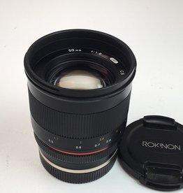 ROKINON Rokinon 50mm f1.2 UMC CS Lens for Sony E Used EX+