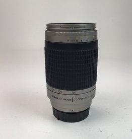 NIKON Nikon AF Nikkor 70-300mm f4-5.6 G Silver Lens Used EX-