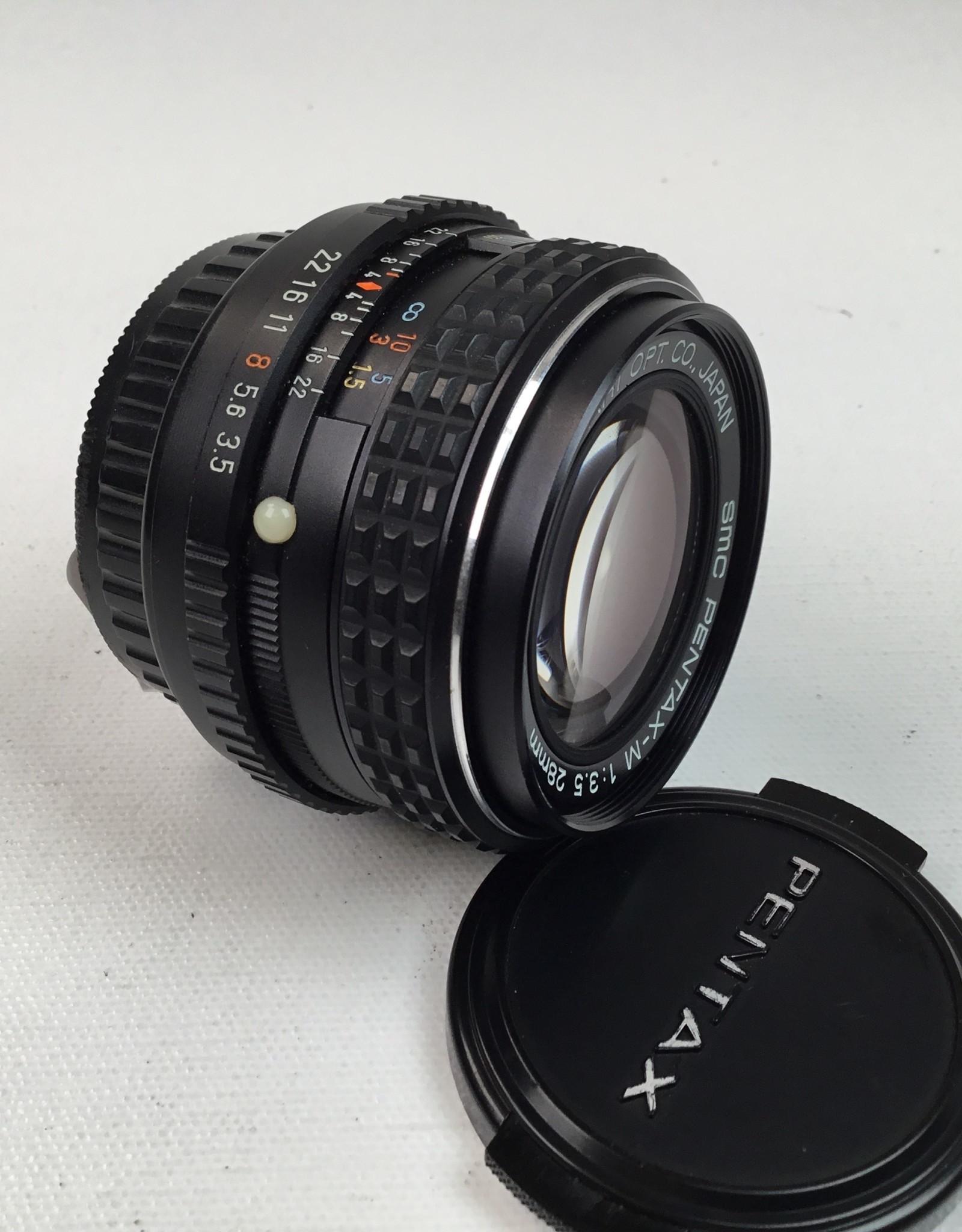 Pentax Pentax SMC  M 28mm f3.5 Lens Used EX