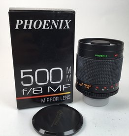Phoenix 500mm f8 Mirror Lens in Box for Nikon Used EX+