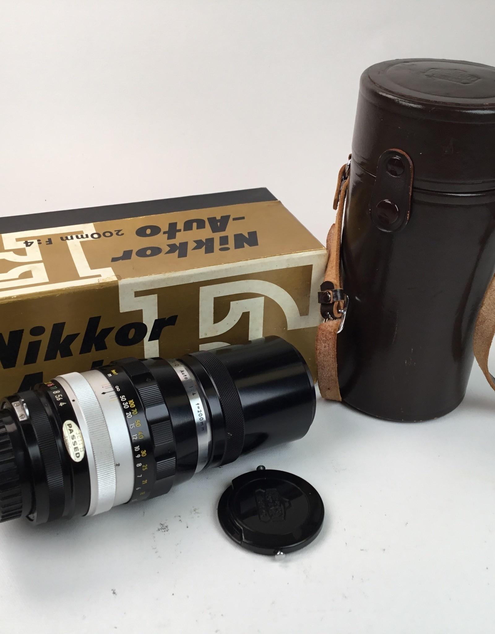 NIKON Nikon Nikkor Q 200mm f4 Lens in Box Used EX+