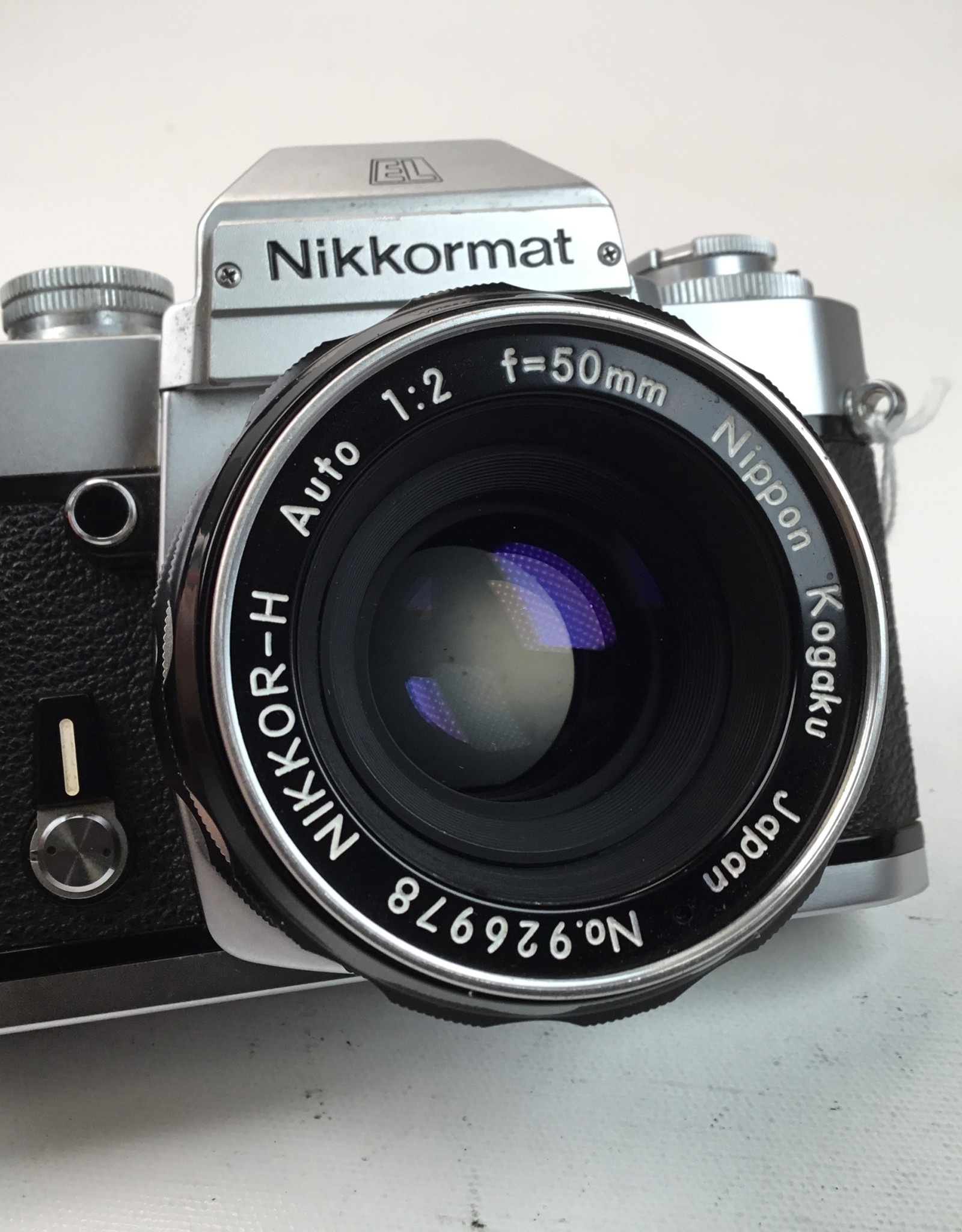 NIKON Nikkormat EL Camera with Nikkor 50mm f2 Used EX