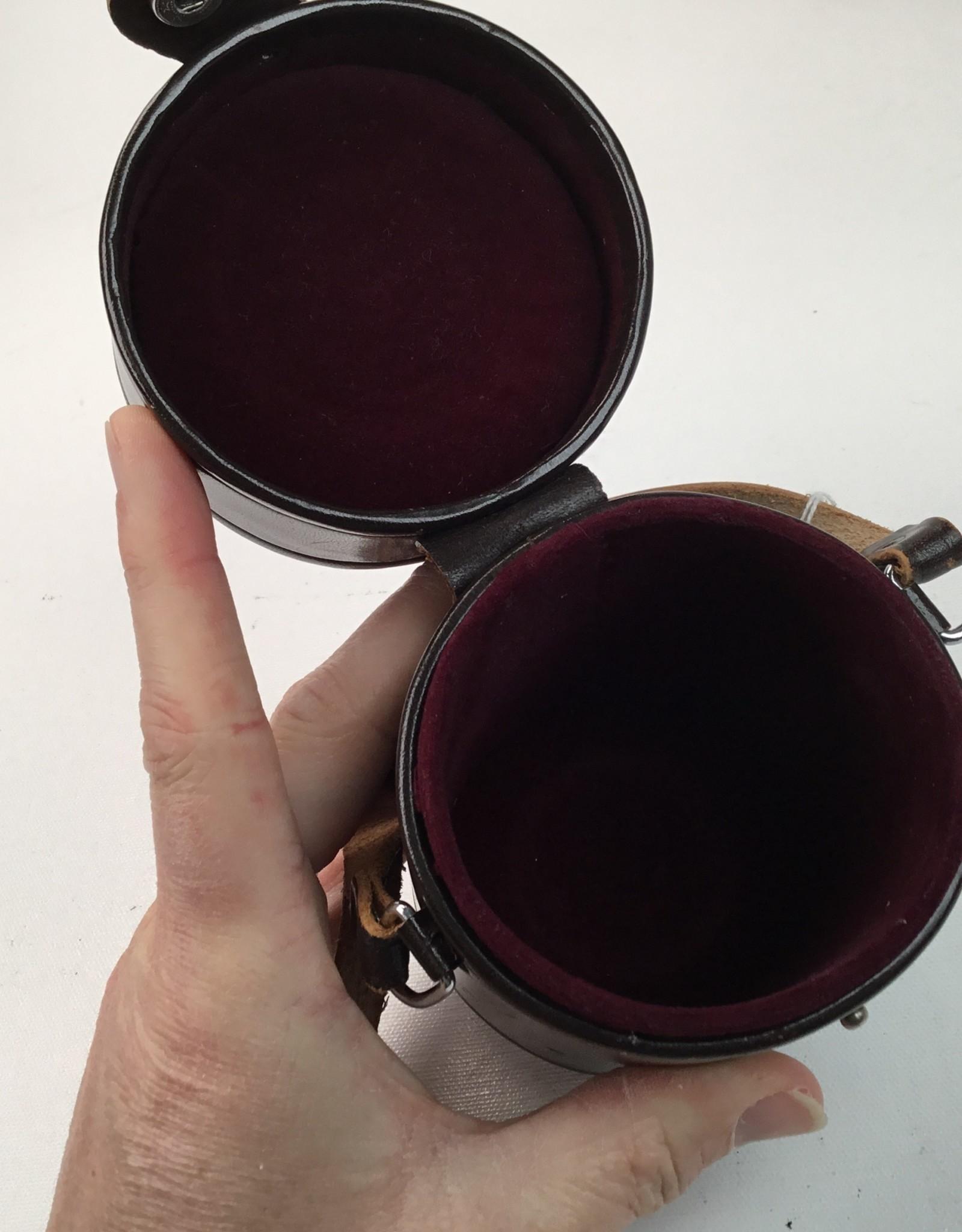 NIKON Nikon Nippon Kogaku Vintage Leather Lens Case 3.5x5.5 Used EX