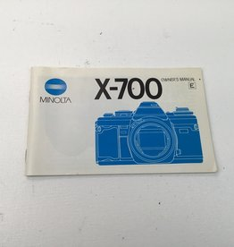 Minolta Minolta X-700 Camera Manual Used EX