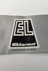 Nikkormat EL Camera Manual Used EX