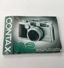 Contax G2 Camera Manual Used EX