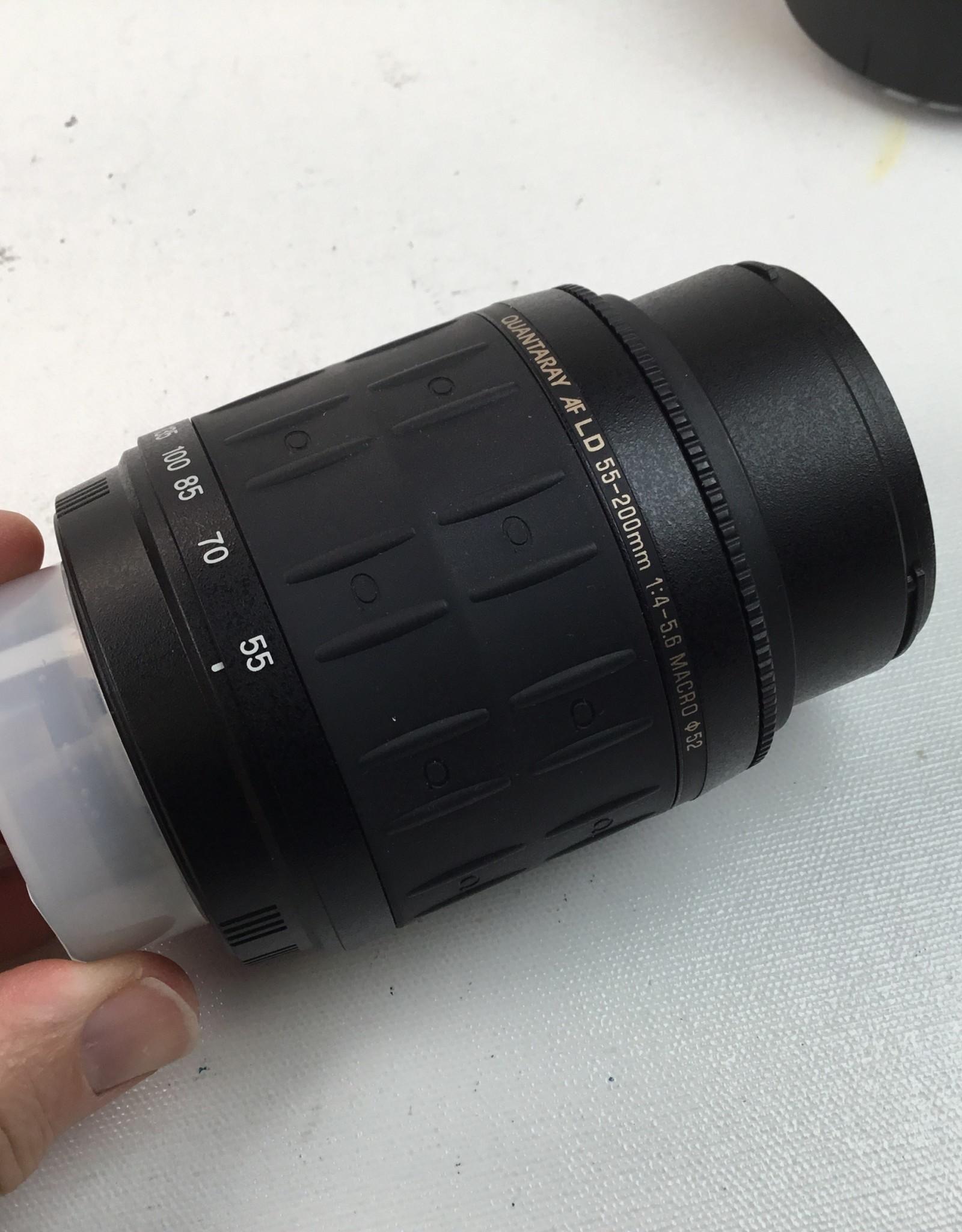 Quantaray 55-200mm f4-5.6 LD Lens for Nikon Used EX