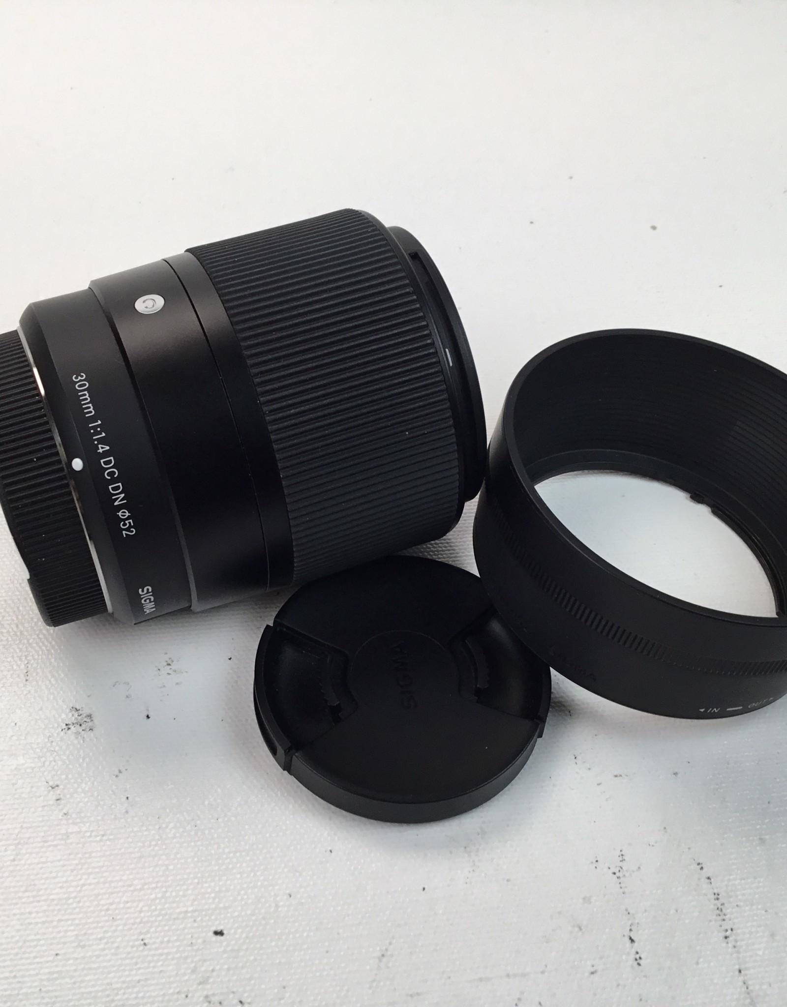 SIGMA Sigma 30mm f1.4 DC DN Micro 4/3 Lens Used EX+