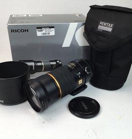 Pentax Pentax DA SMC 300mm f4 ED IF SDM Lens In Box Used  EX