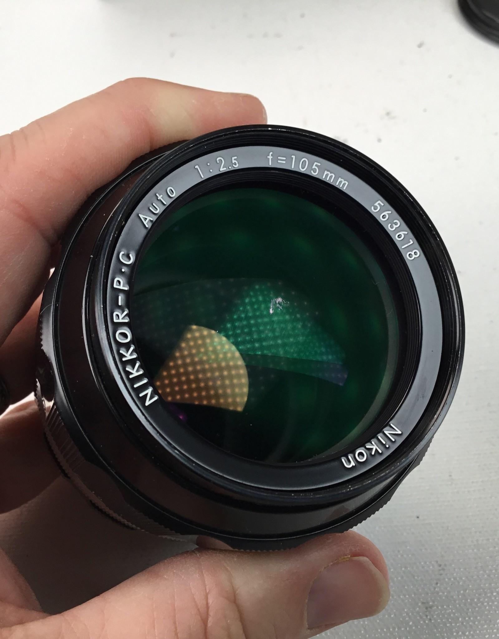 NIKON Nikon Nikkor PC 105mm f2.5 Non Ai Lens in Box Used EX