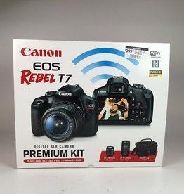 CANON Canon Rebel T7 2 Lens Premium Kit in Box Used LN