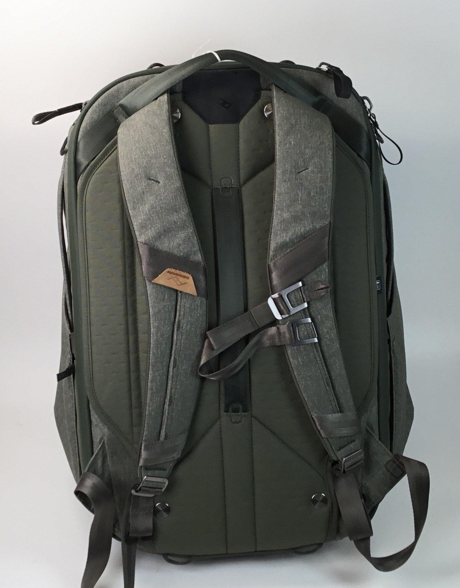 Peak Design Travel Backpack 45L Sage with Large Camera Cube Used EX