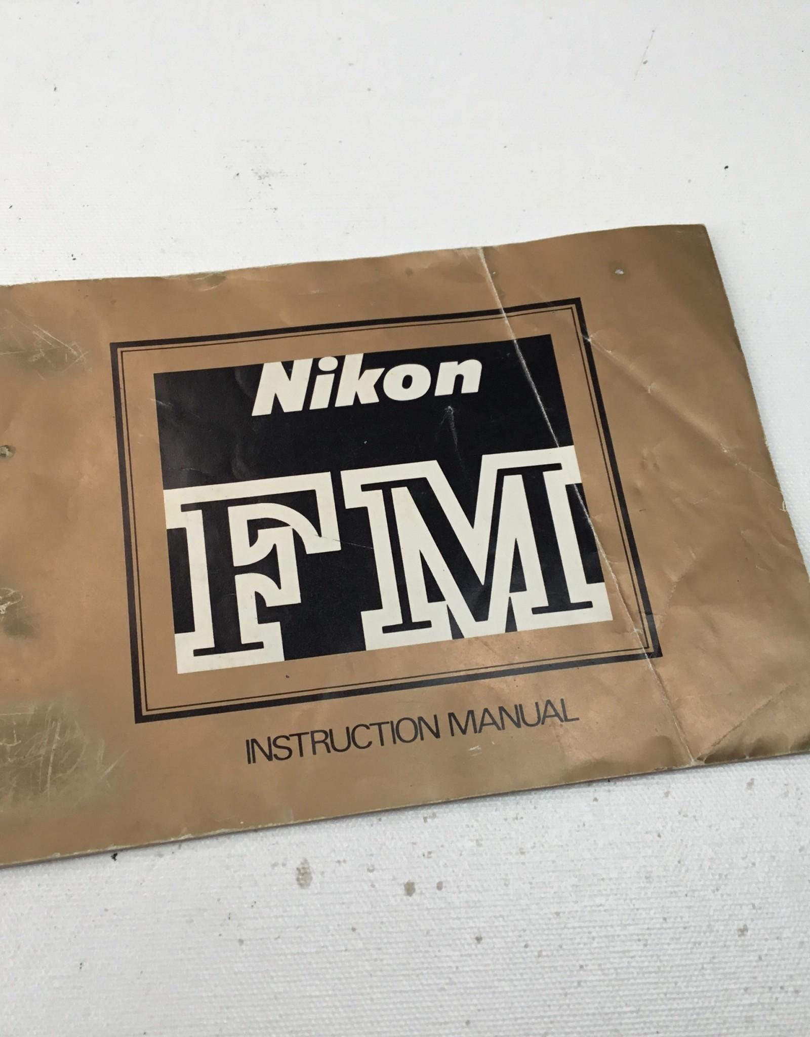 Nikon Manual for FM Camera Body Used EX-