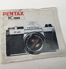 Pentax Pentax Manual for K1000 Camera Body Used EX-