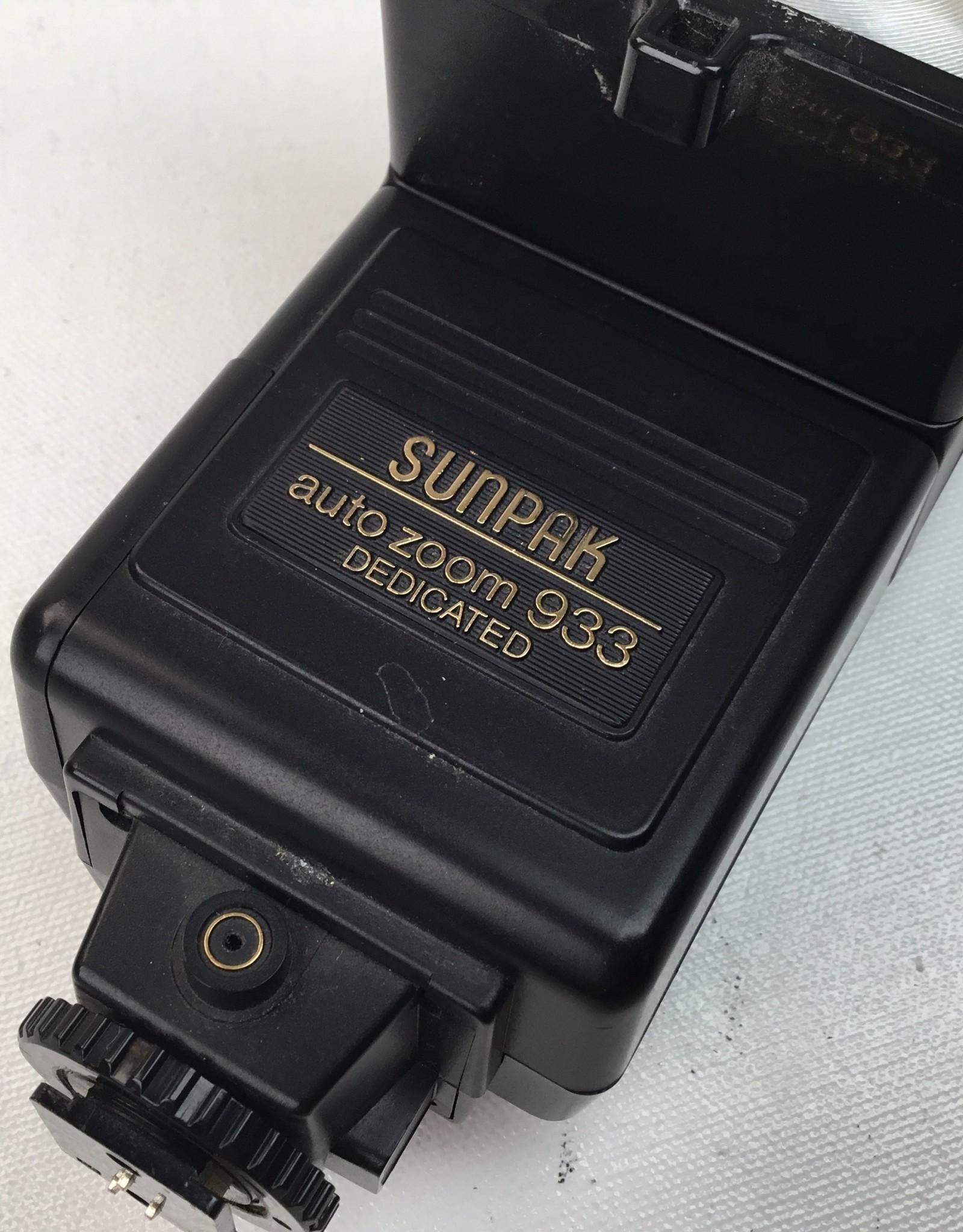 Vivitar Sunpak Auto Zoom 933 Flash for Canon AE-1, A-1 Used EX