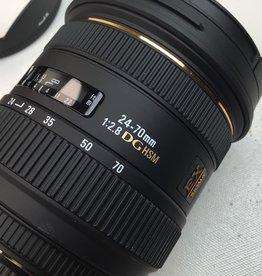 NIKON Sigma 24-70mm f2.8 IF EX DG Lens in Box for Nikon Used LN