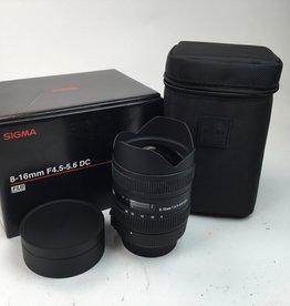 SIGMA Sigma 8-16mm f4.5-5.6 DC Lens for Nikon in Box Used LN