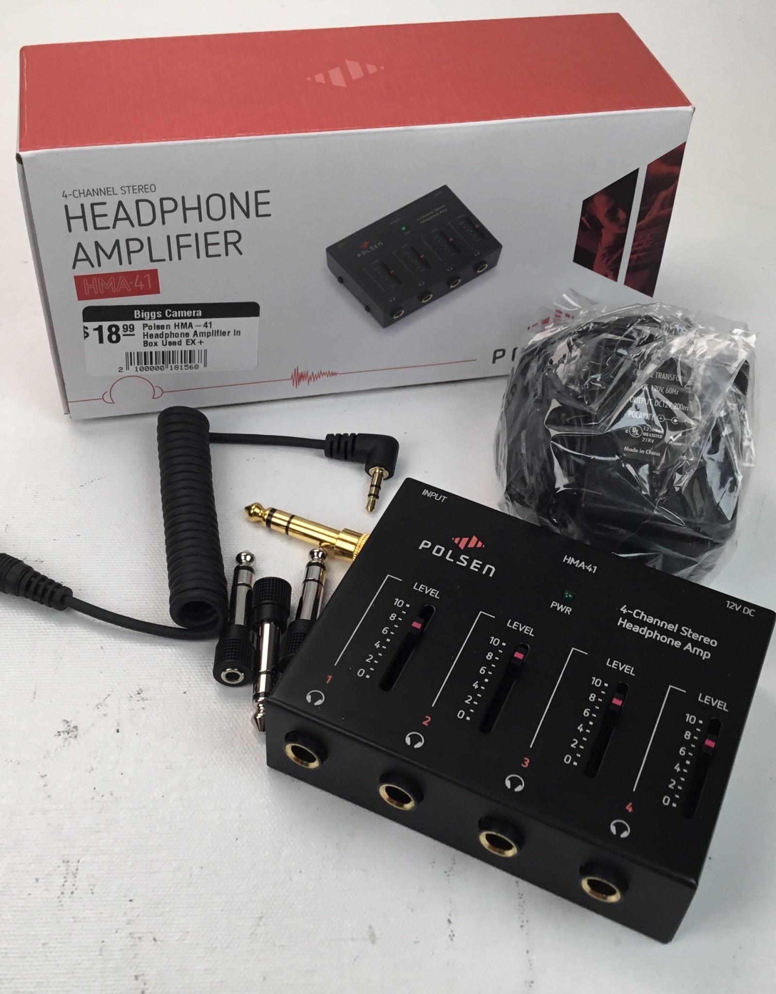Polsen HMA-41 Headphone Amplifier in Box Used EX+