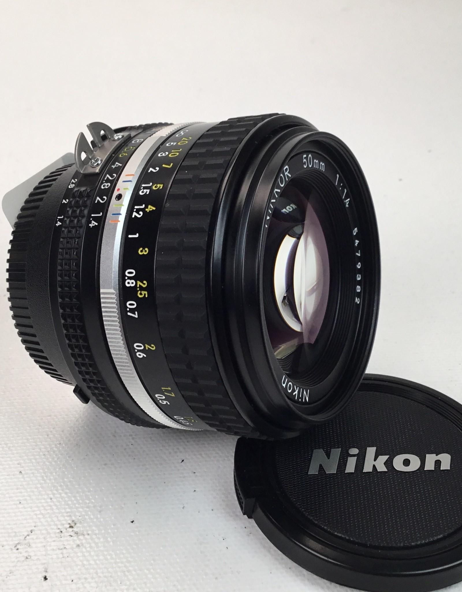 NIKON Nikon Nikkor 50mm 1.4 AIS Lens Used EX+