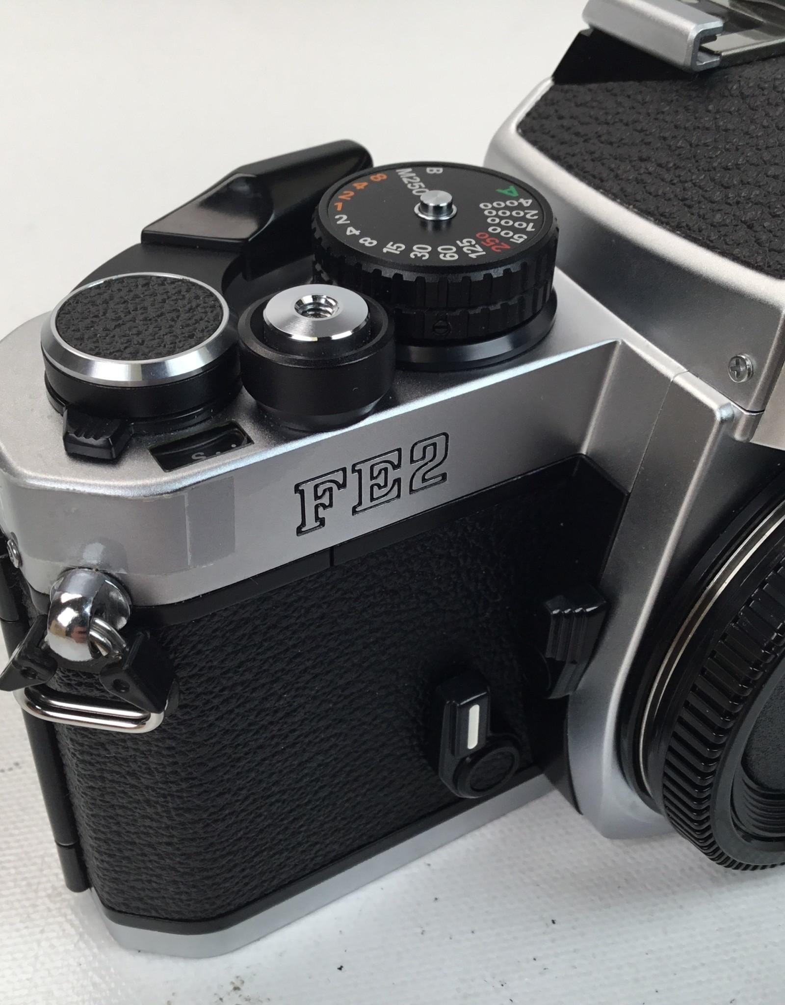 NIKON Nikon FE2 Body Chrome Camera in box Used EX+