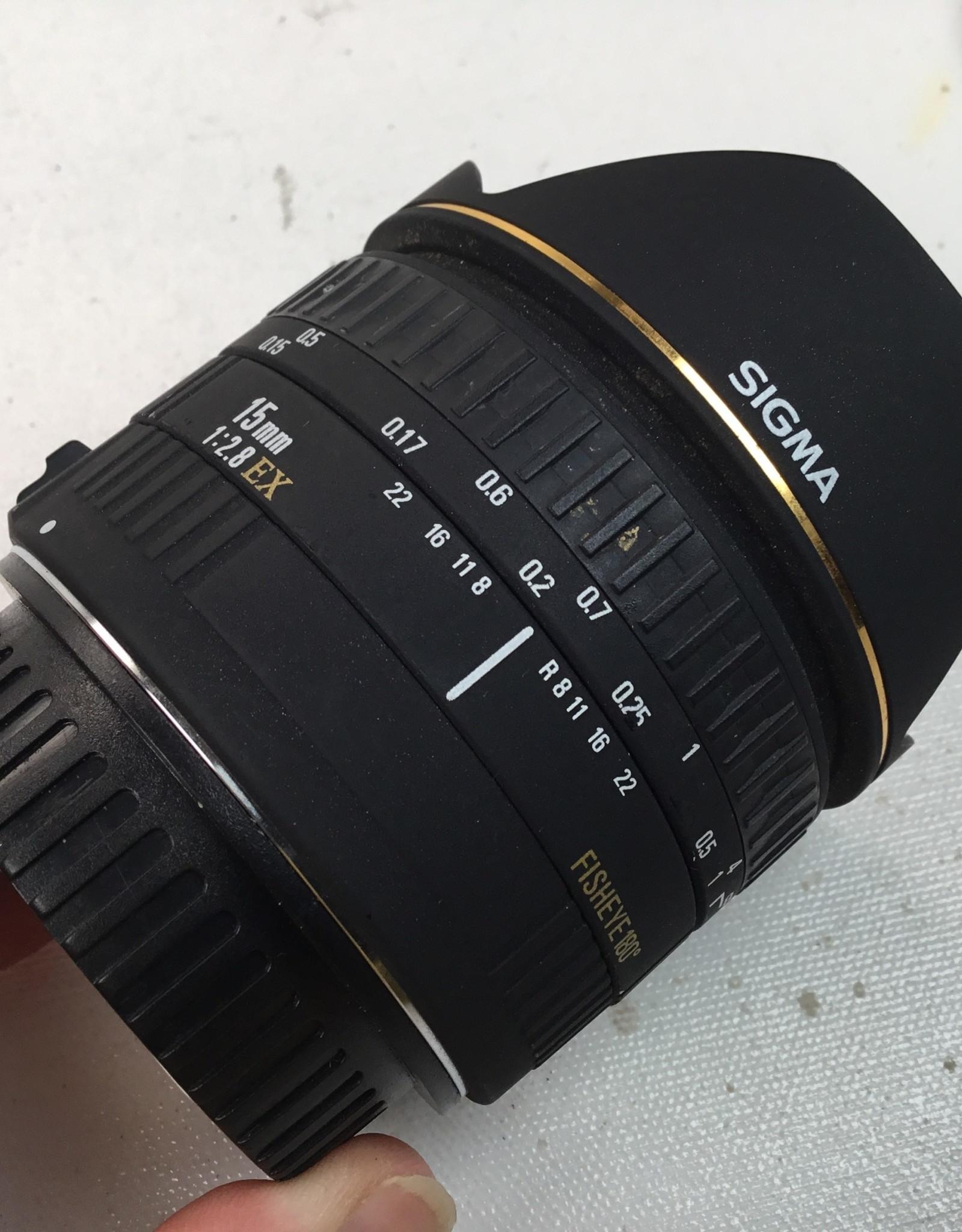 CANON Sigma 15mm f2.8 EX Fisheye Lens Used EX