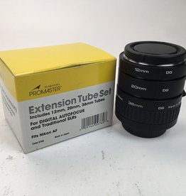 Promaster Macro Extension Tube Set for Nikon Used EX+