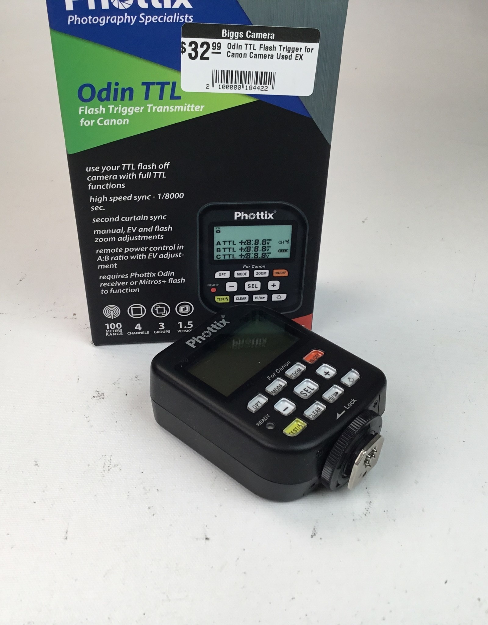 PHOTTIX Odin TTL Flash Trigger for Canon Camera Used EX