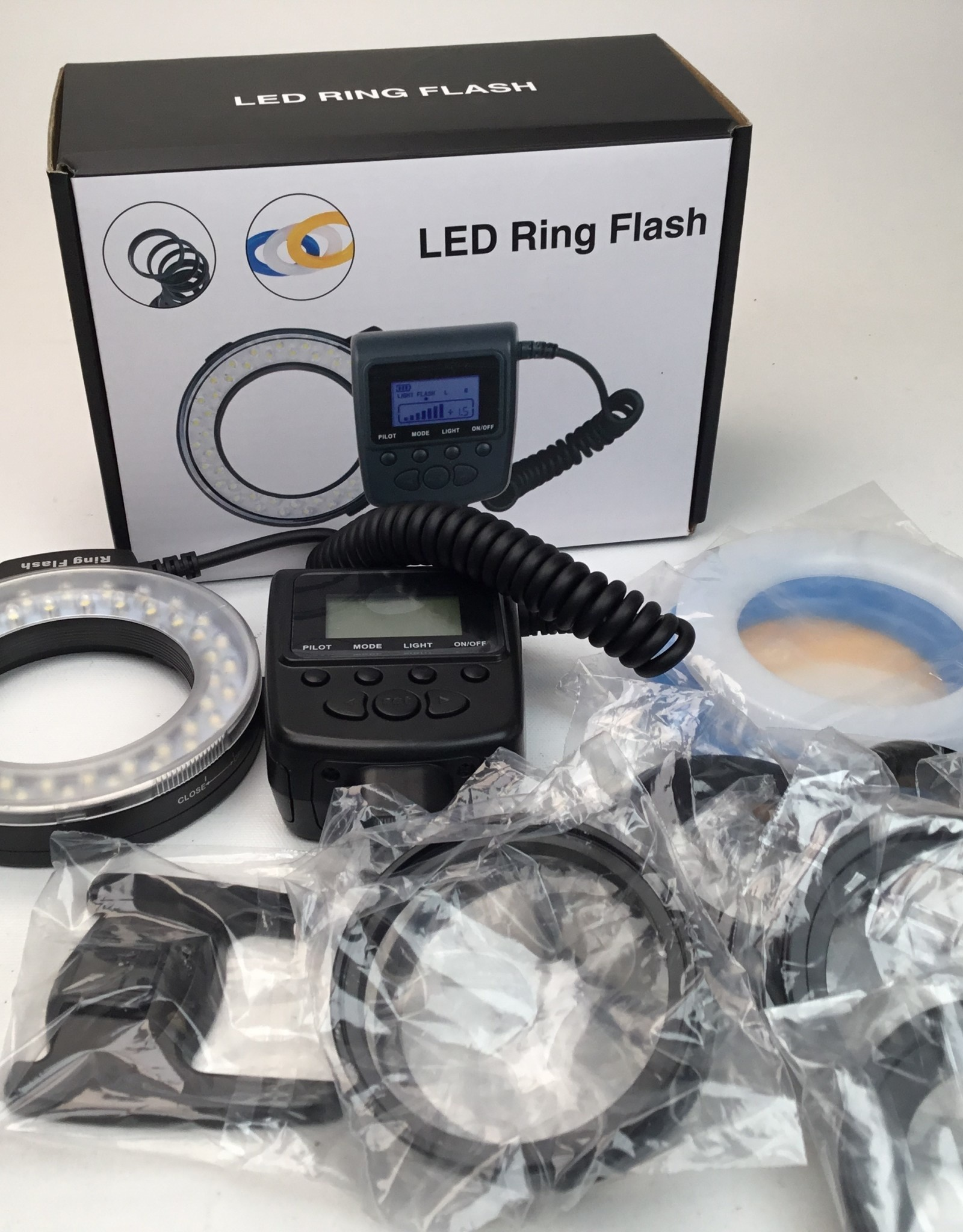 LED Ring Flash in Box Used EX