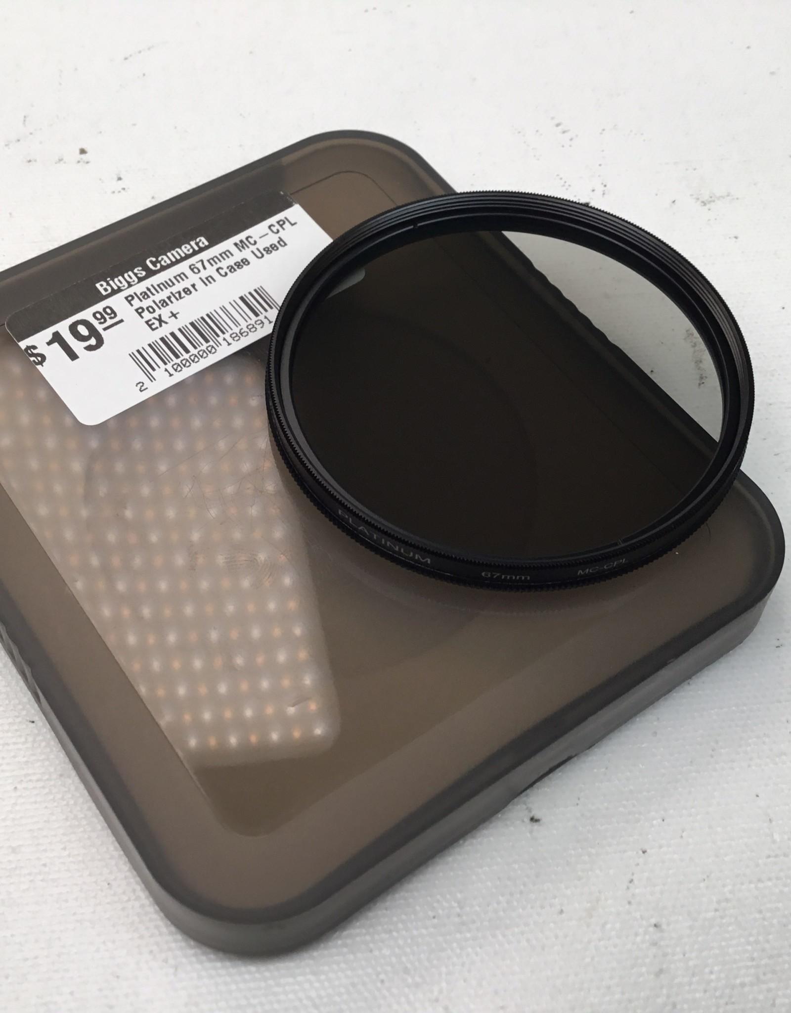Platinum 67mm MC-CPL Polarizer in Case Used EX+