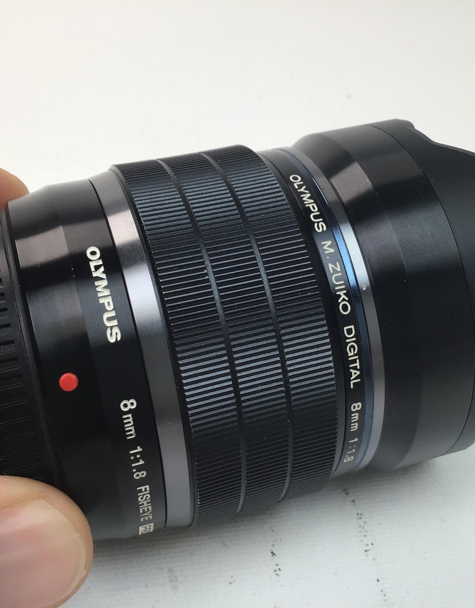 OLYMPUS Olympus M.Zuiko Digital 8mm f:1.8 Fisheye PRO lens Used Good