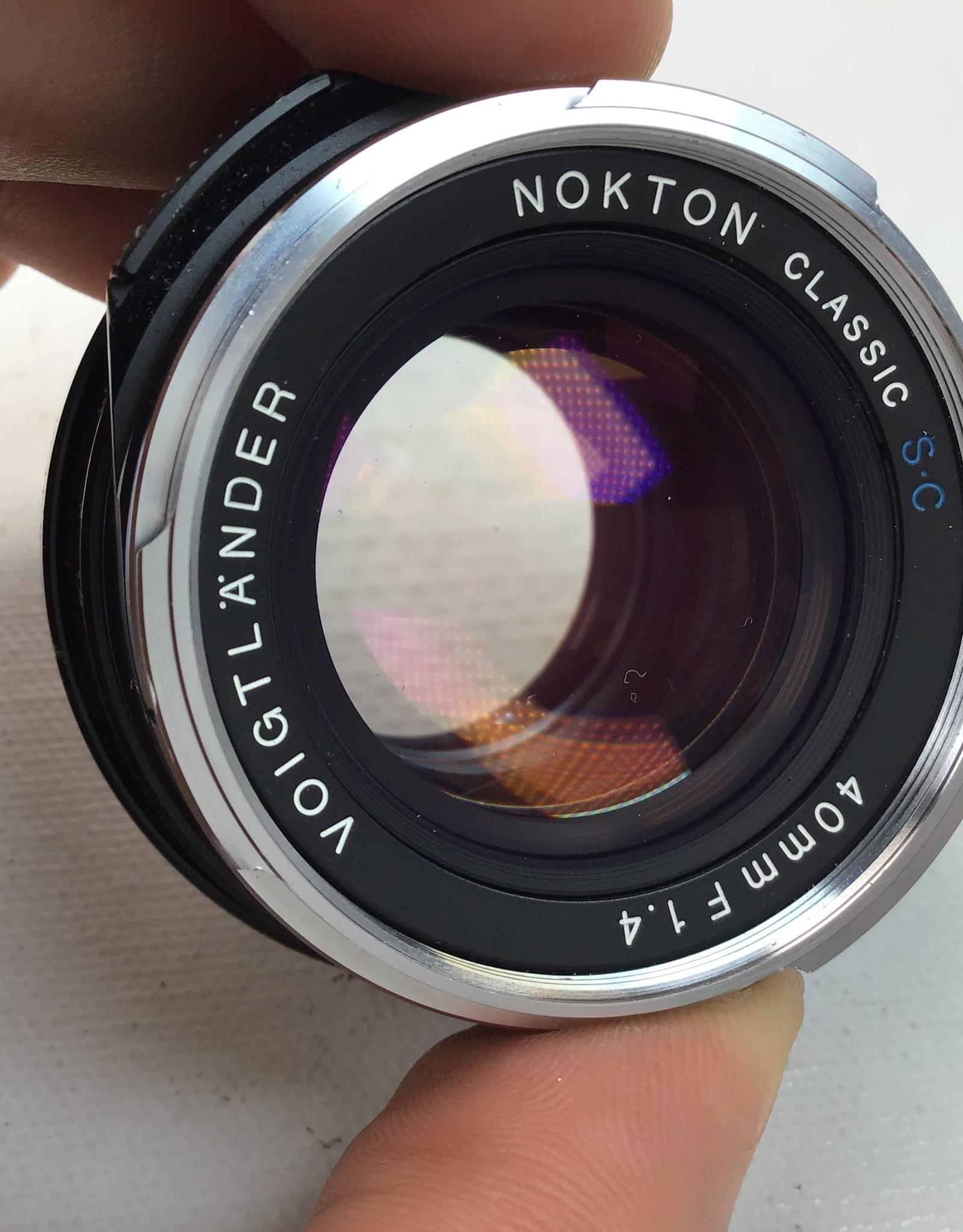 Voigtlander Voigtlander Nokton Classic 40mm f1.4 Leica M Mount Used EX